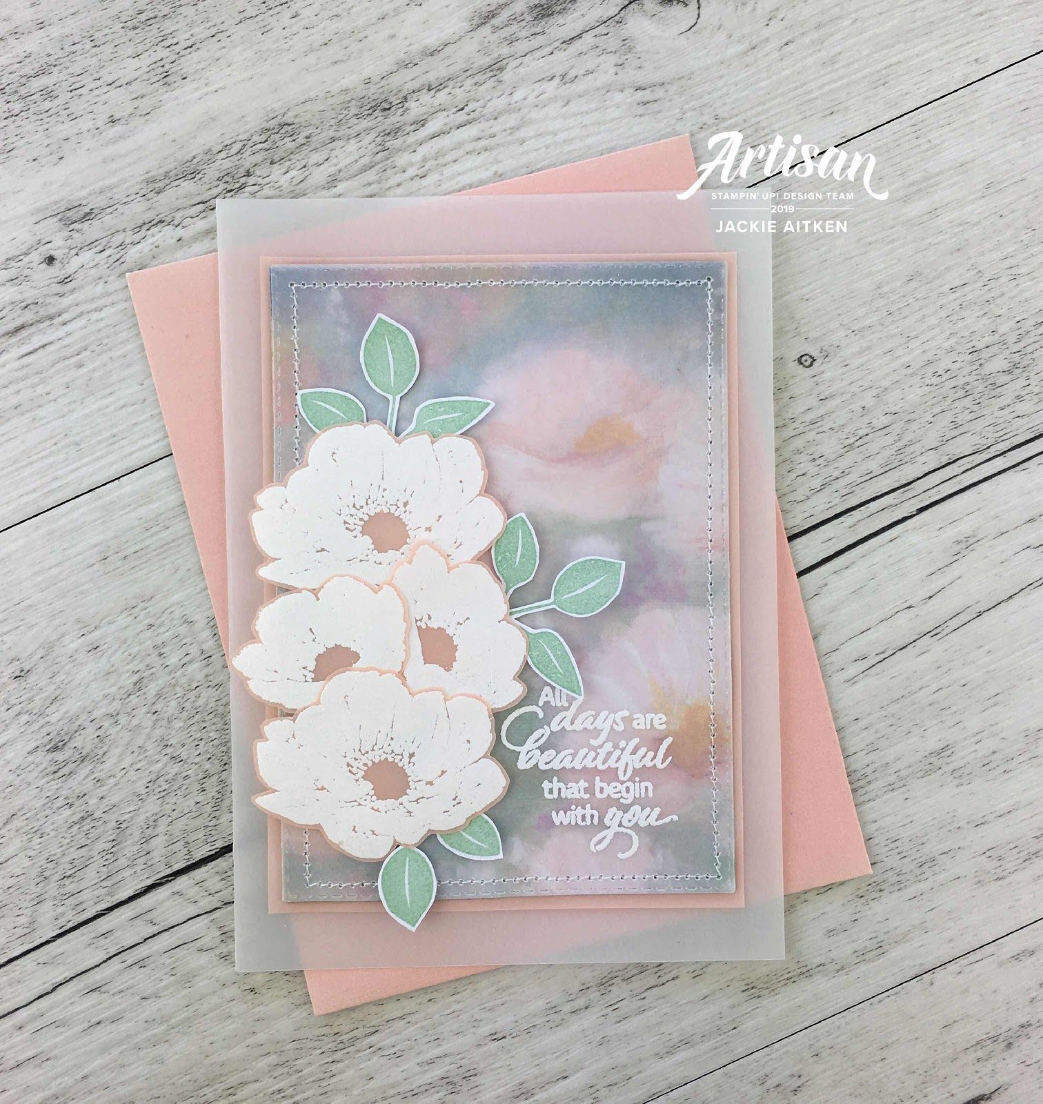 Stampin/' Up New Neutrals Collection PETAL CARDS Die Cuts 11