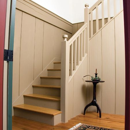 High Quality Custom Stairs And Wide Pine Wall Boards