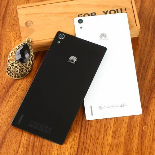 Original Replace Battery Back Cover case for Huawei Ascend P7 hard Glass Housing protective cases for huawei p7 shell