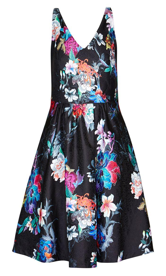 0c442cddd7904 City Chic - PRETTY ORIENTAL DRESS - Women s Plus Size Fashion