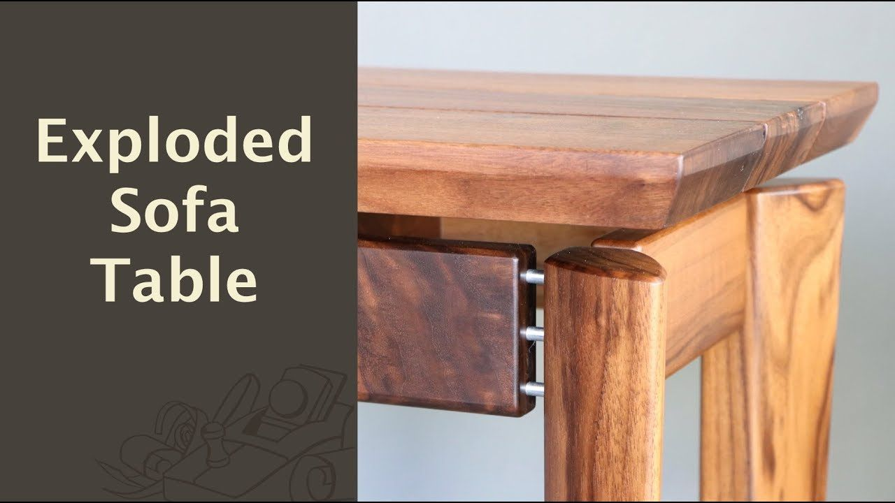 Exploded Sofa Table Woodworking Projects Diy Diy Woodworking Woodworking Projects