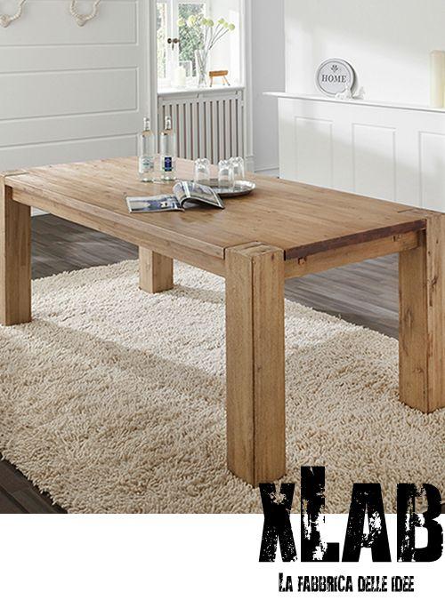Acquista online tavoli in legno massello stile rustico | Tavolo da ...