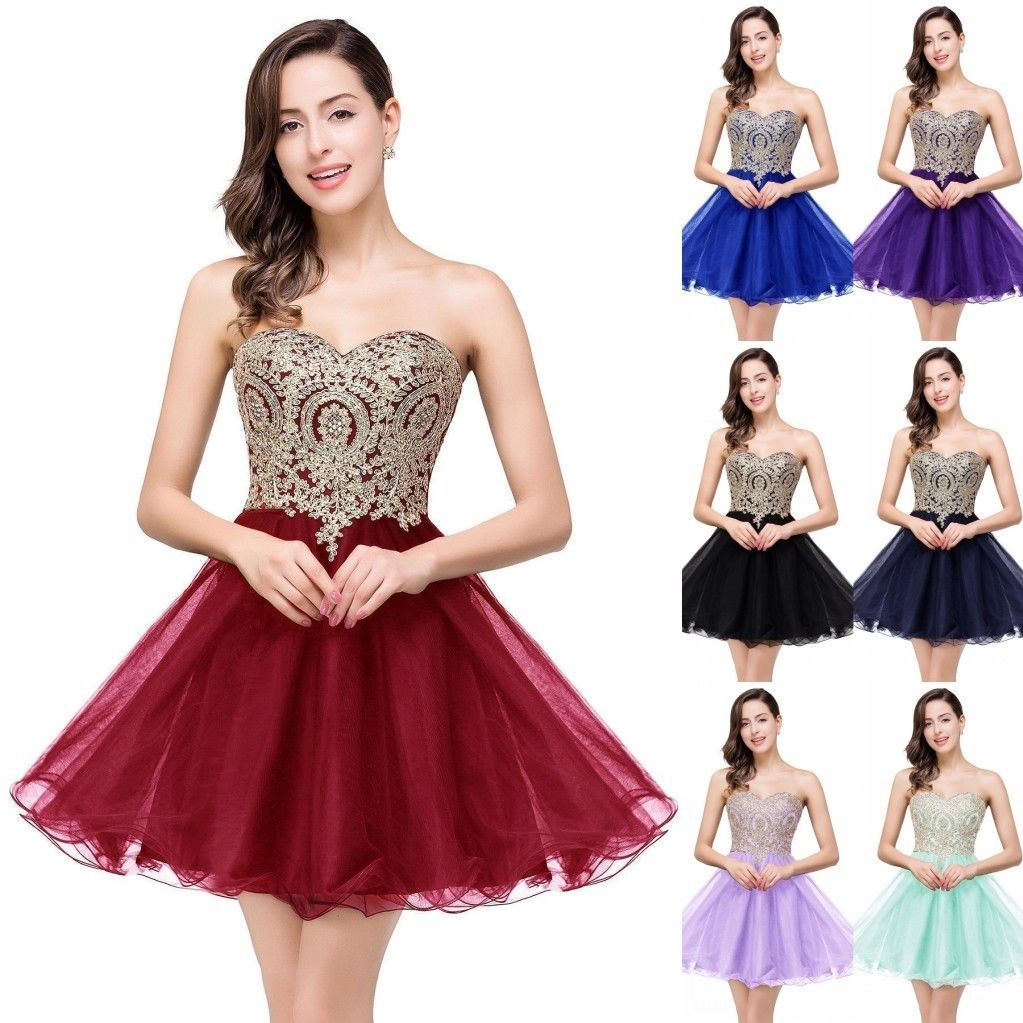 Cool short homecoming prom dresses evening formal cocktail party