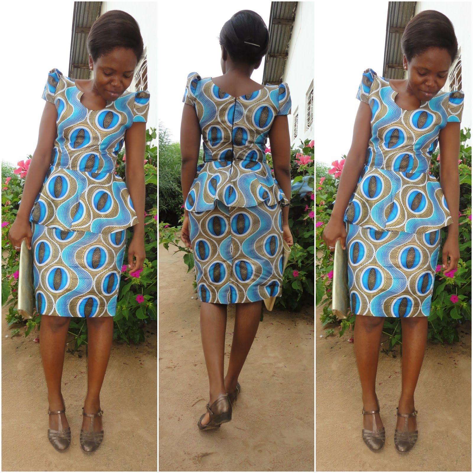 For African Fashion: KITENGE PEPLUM DRESS