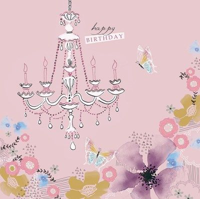 Happy Birthday Pink Greeting Card by Lola | Whistlefish Galleries