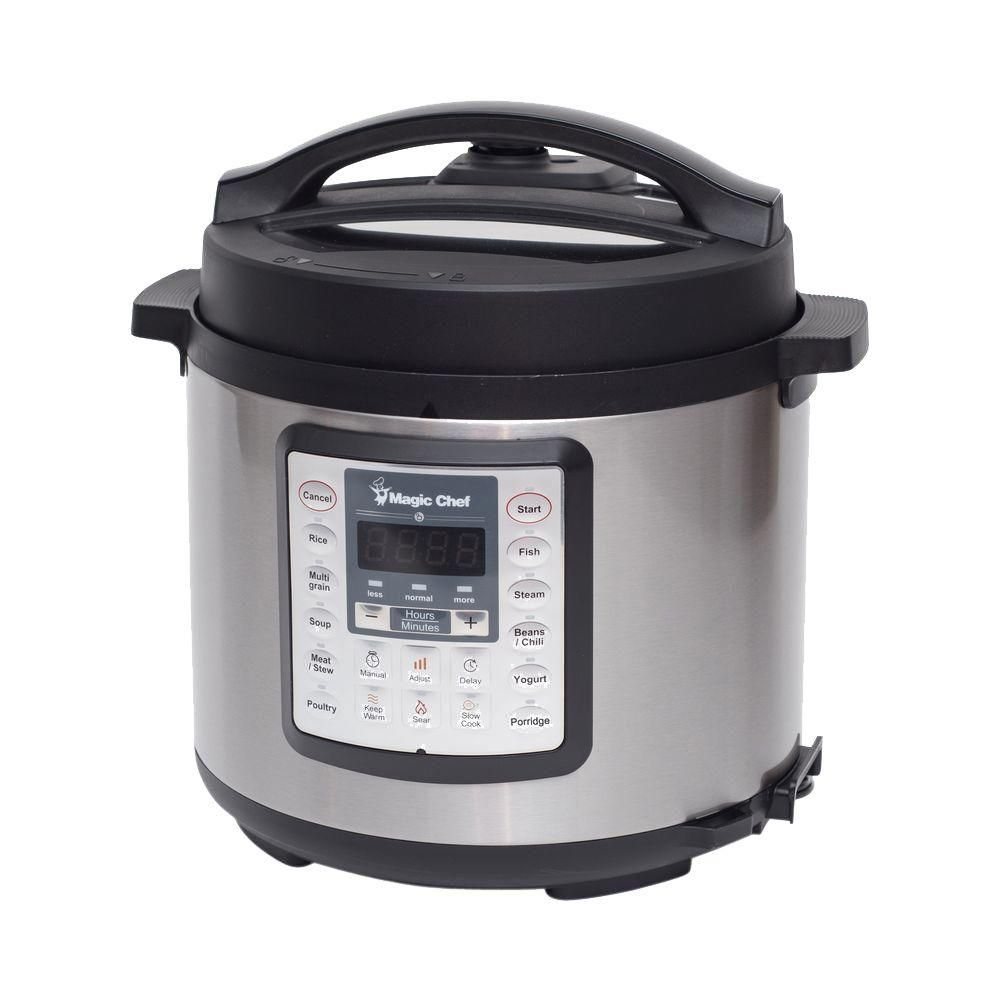 Magic Chef 6 Qt All In One Multi Cooker Black Shopping Krezi Kamis 25 Bottle Natural 260ml 9 Oz Twin Blue 7 1 Stainless Steel Mcsmc10s7 The Home Depot