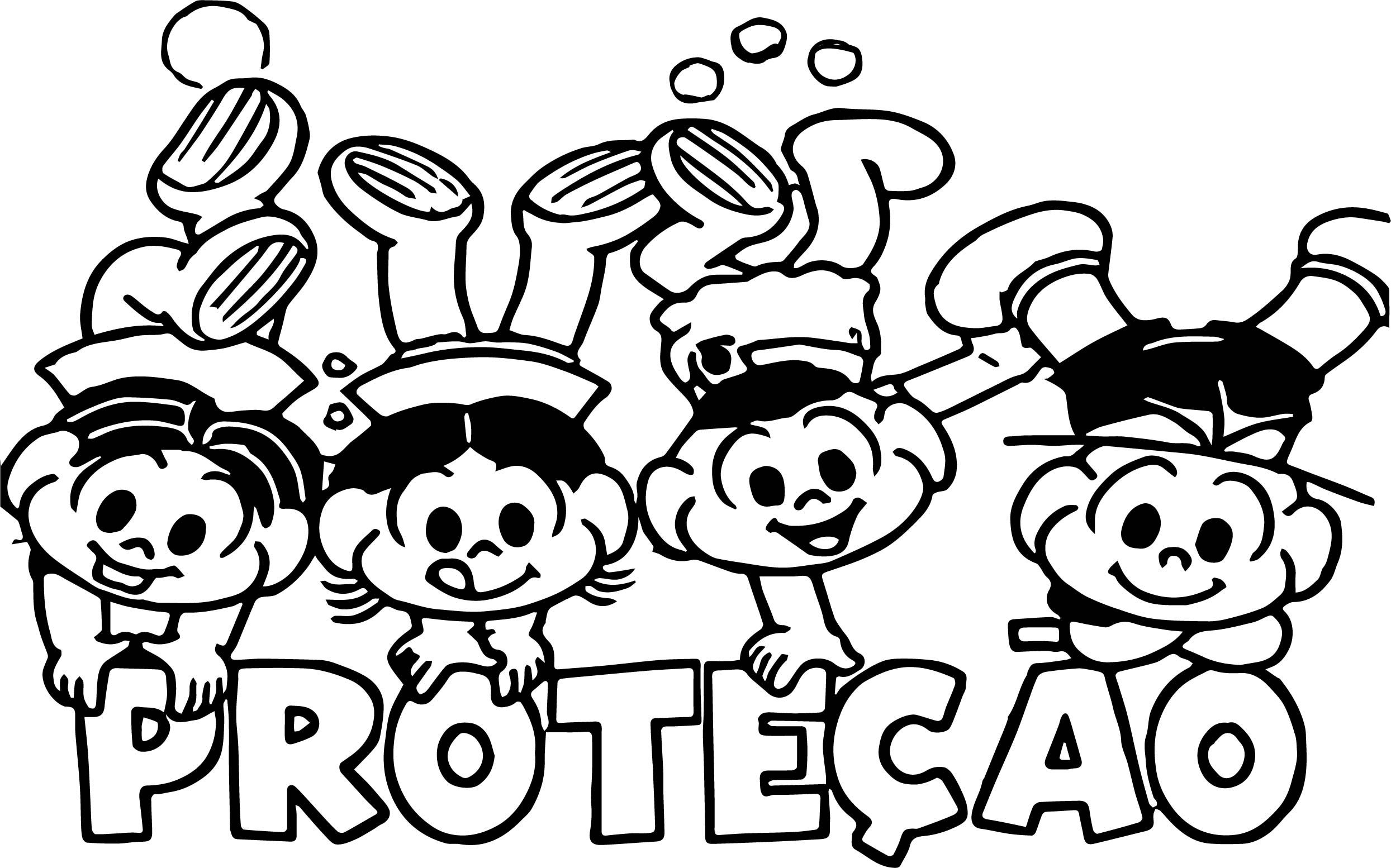 Cool A Turma Da Monica Coloring Page Coloring Pages For Boys