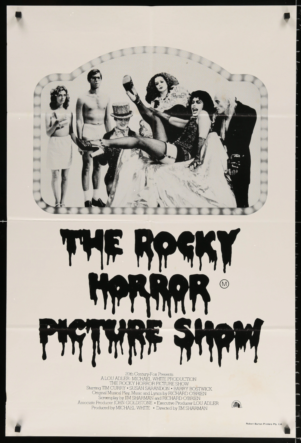The Rocky Horror Picture Show Vintage Movie Poster 1 Sheet 27x41 Original Film Poster In 2020 Rocky Horror Picture Show Rocky Horror Horror Picture Show