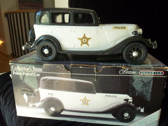 Jim Beam Decanter Police Patrol Car 1934 Ford By