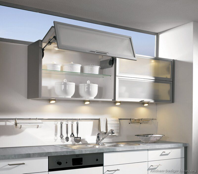 Modern White Kitchen Cabinet Doors: Modern Two-Tone Kitchen Cabinets #03 (Alno.com, Kitchen