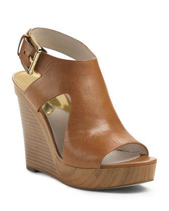 14de5fc64f8 MICHAEL Michael Kors Josephine Leather Wedge Sandal.