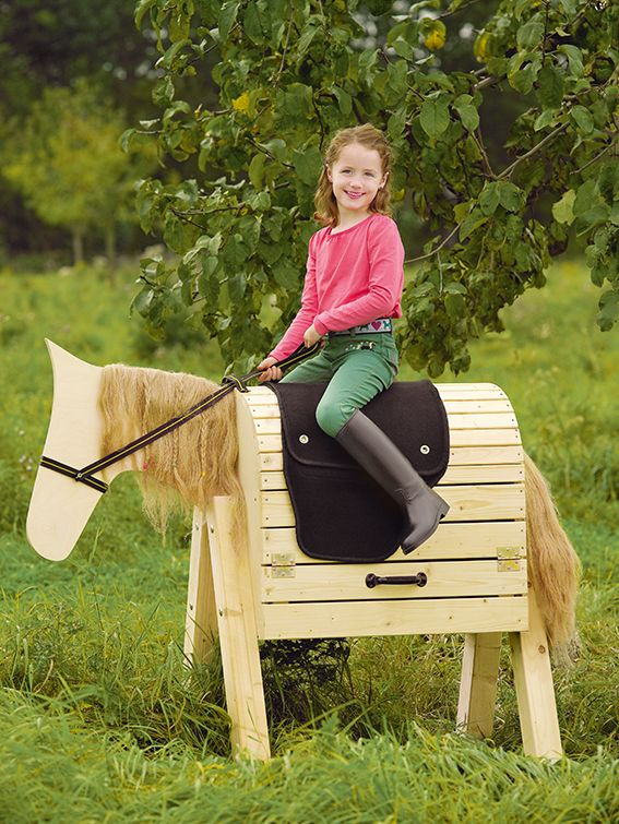 Such a cute DIY idea for your little girl's A Horse made