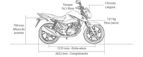 dimens u00d5es de moto