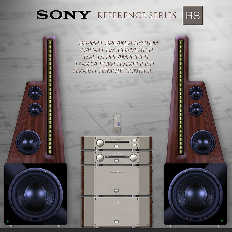 sony rs ss mr1 speaker system concept sony speakers and ss. Black Bedroom Furniture Sets. Home Design Ideas