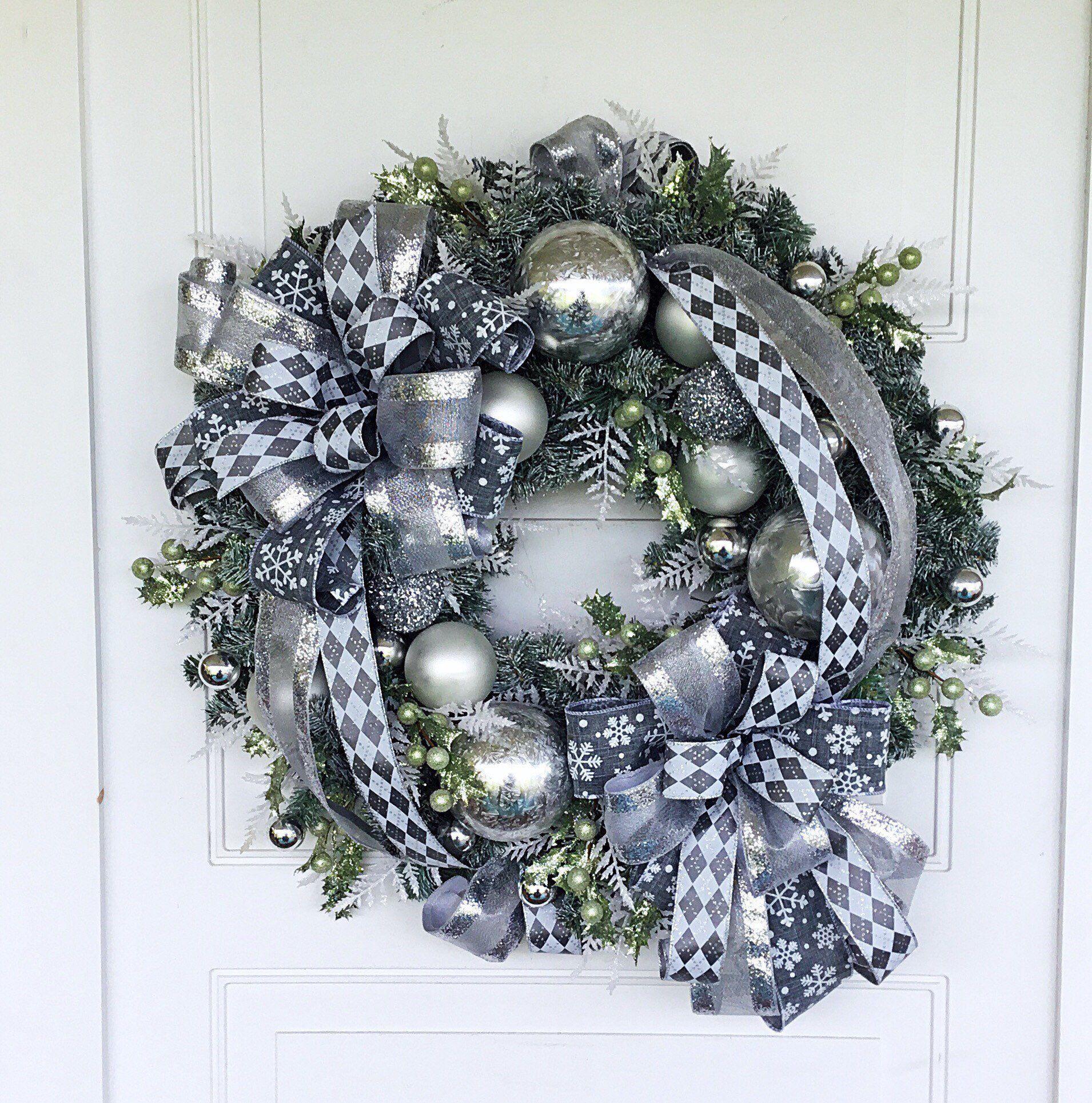 Christmas wreath floral christmas wreath evergreen wreath