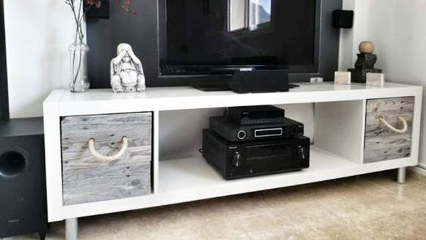 Ikea hack: estantería Kallax | Diy tv stand ideas, Tv ikea