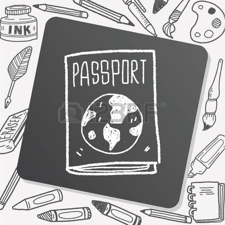 Passport Cover Doodle Passport Planner Doodles Passport Doodle Travel Doodle