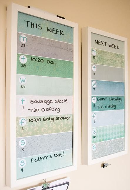How To Create A Fabulous Kitchen Command Center Family command - steps for creating a grant calendar