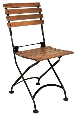 Lovely 19th Century Reproduction French Bistro Cafe Chestnut Folding Side Chair