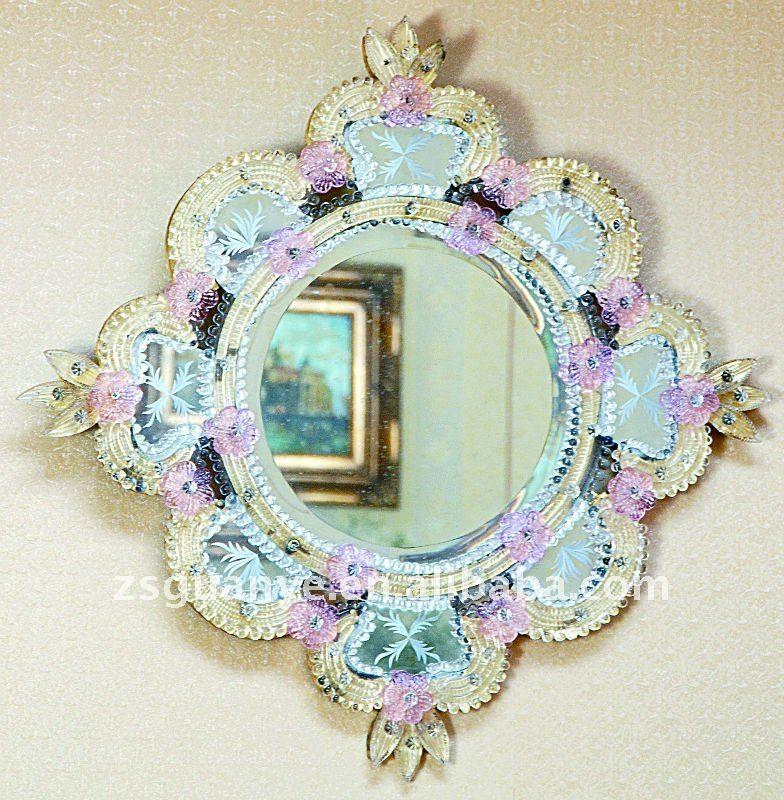 Nuevo Diseño Estilo Murano Cristal Espejo Enmarcado,Moldeado ...