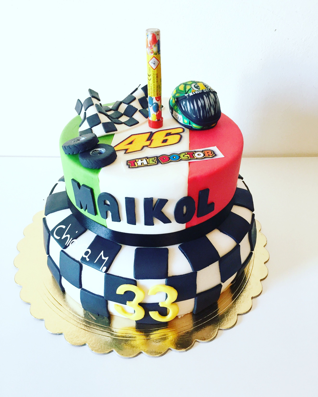 Cake Valentino Rossi Le mie torte in pdz Pinterest – Valentino Rossi Birthday Card
