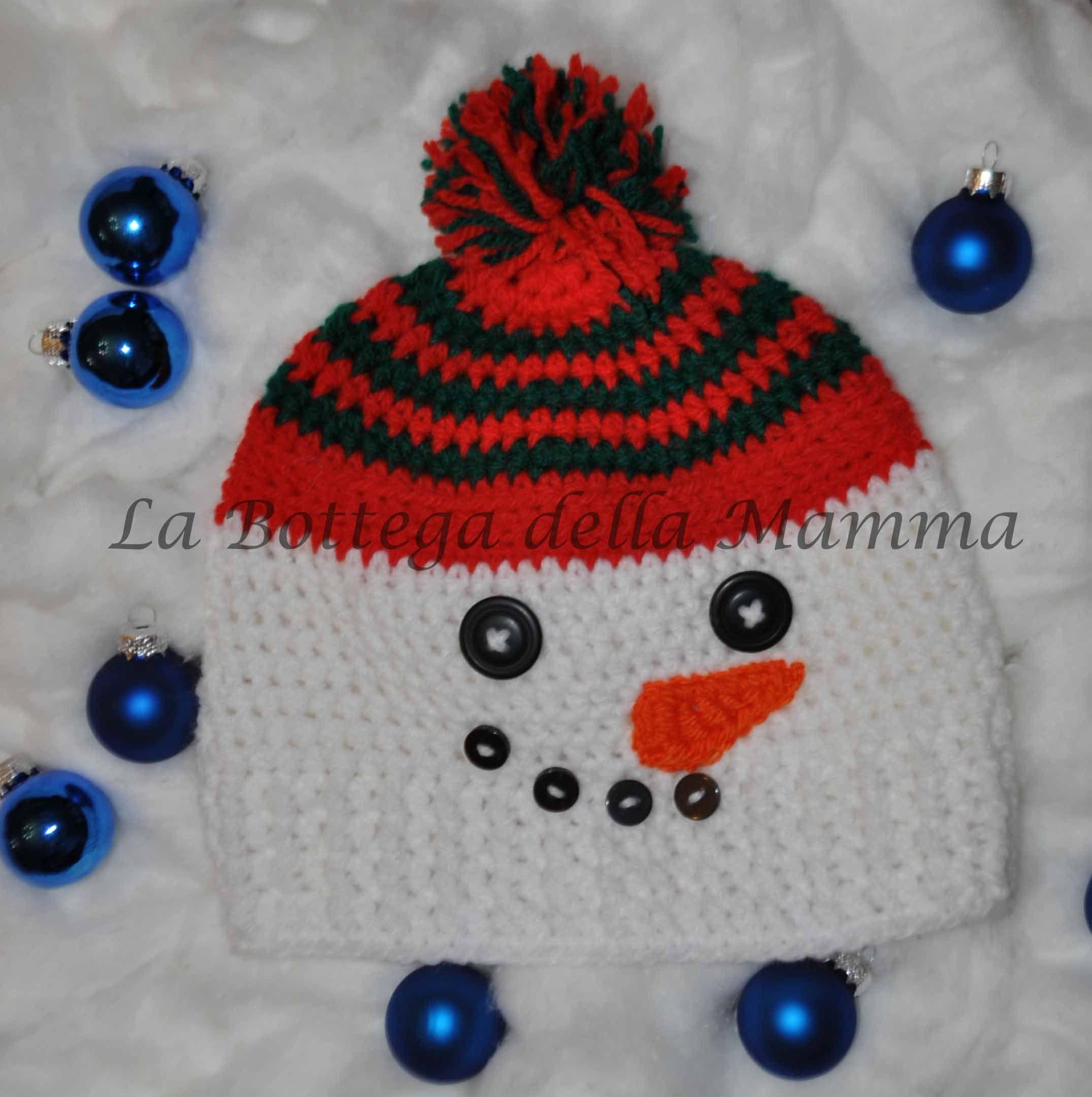 Berretto snowman http://www.misshobby.com/it/oggetti/cappello-per-bimbi-modello-frosty?utm_campaign=facebook&utm_medium=shop&utm_source=users