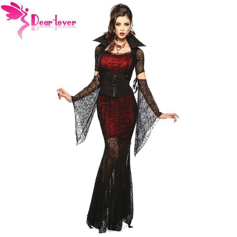 Fantasia de Vampira de Luxo Tamanho Único (Kit: 1 Vestido, 1 Corset , 1 Colar, 2 Luvas)