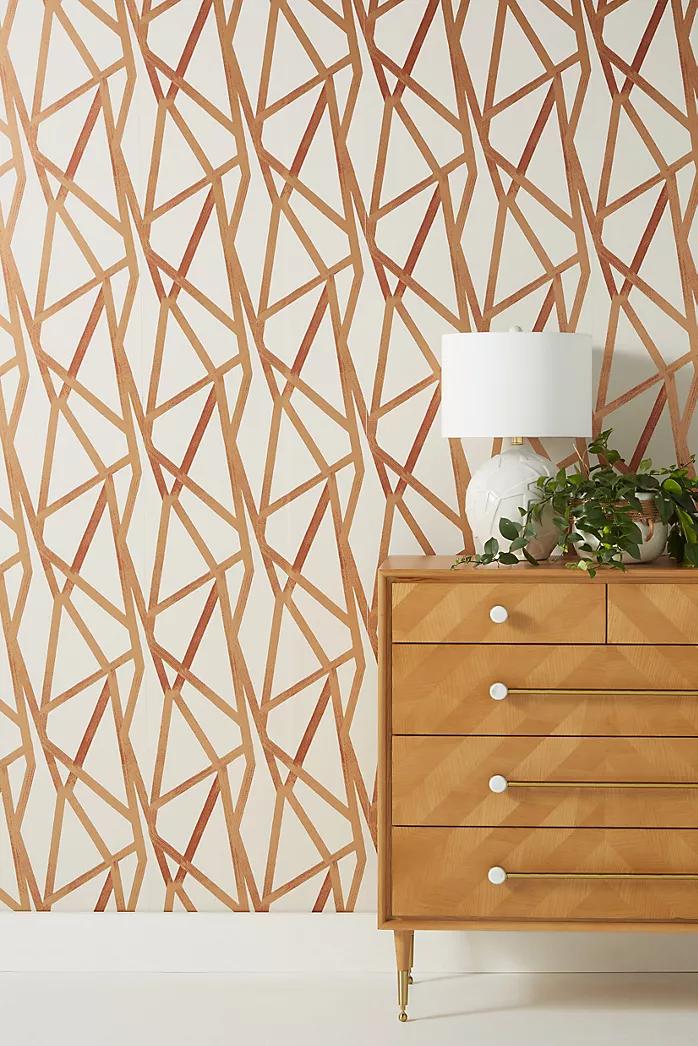 Wallpaper Anthropologie Removable Wallpaper Boho Wallpaper Geometric Wallpaper