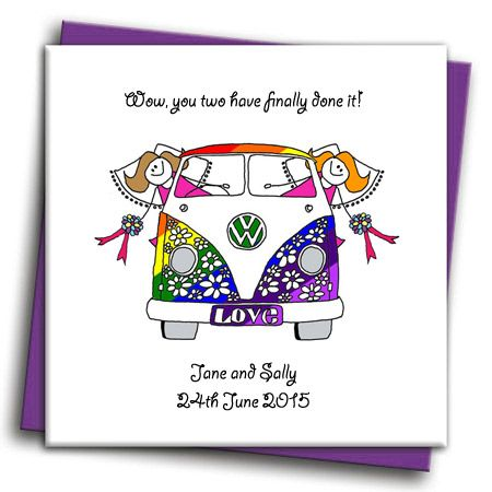 gay campervan wedding card