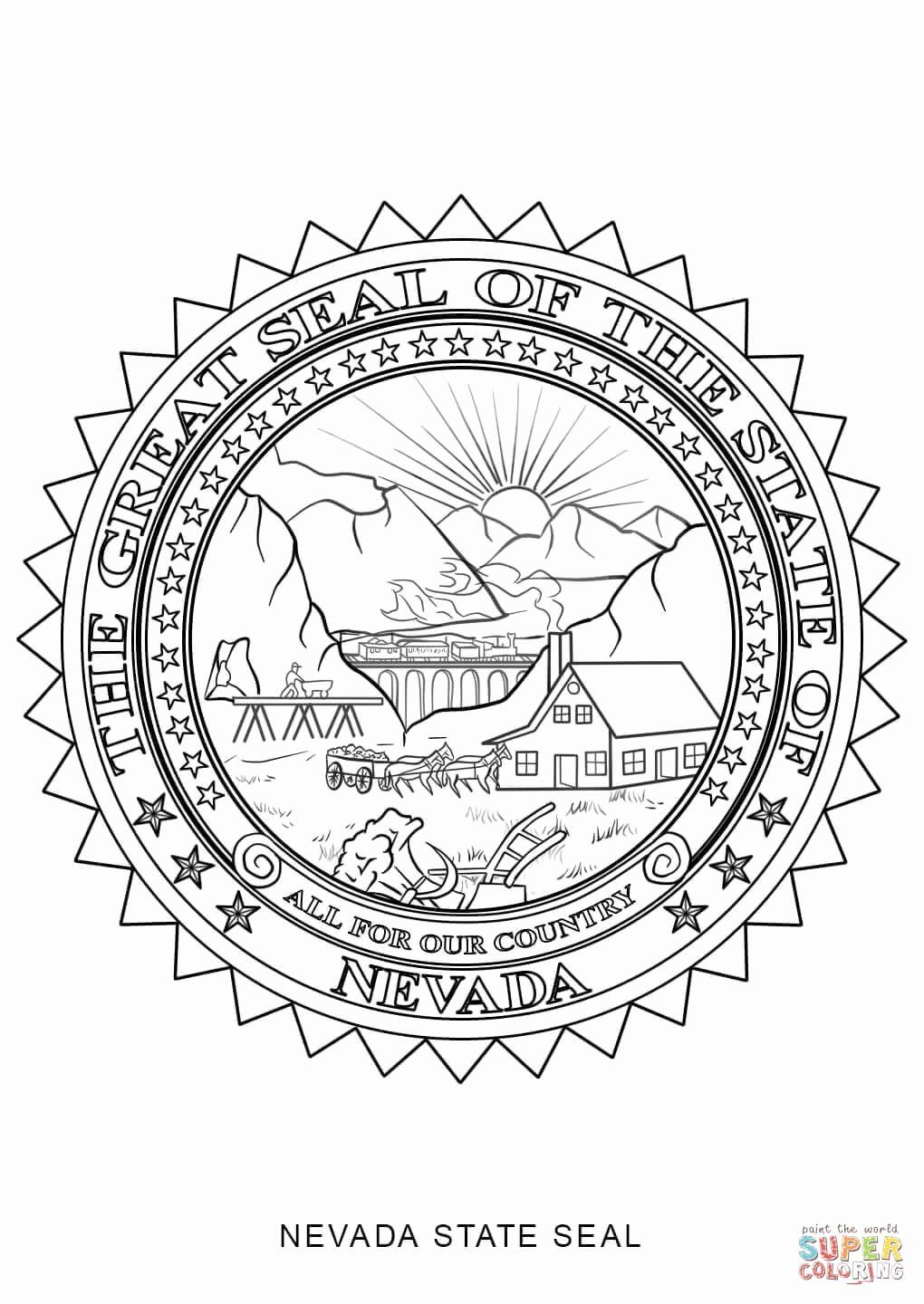 Virginia State Flag Coloring Page Luxury Nevada State Seal Coloring Page Nevada