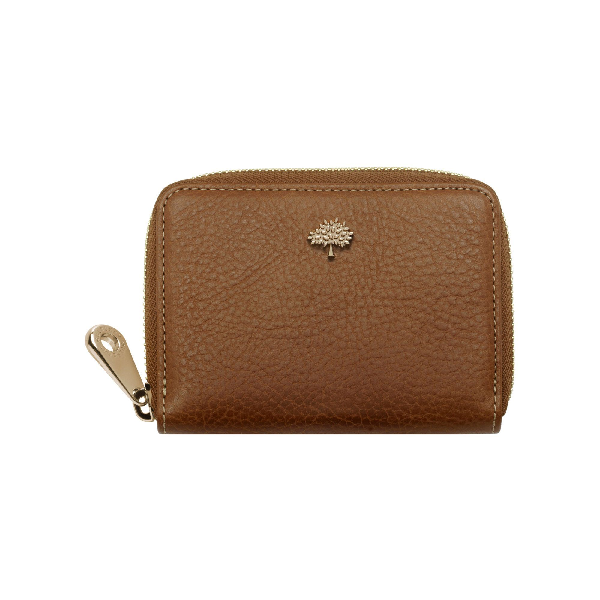 3f5c5c7b4a Mulberry - Tree Zip Around Purse in Oak Natural Leather   Handbags ...