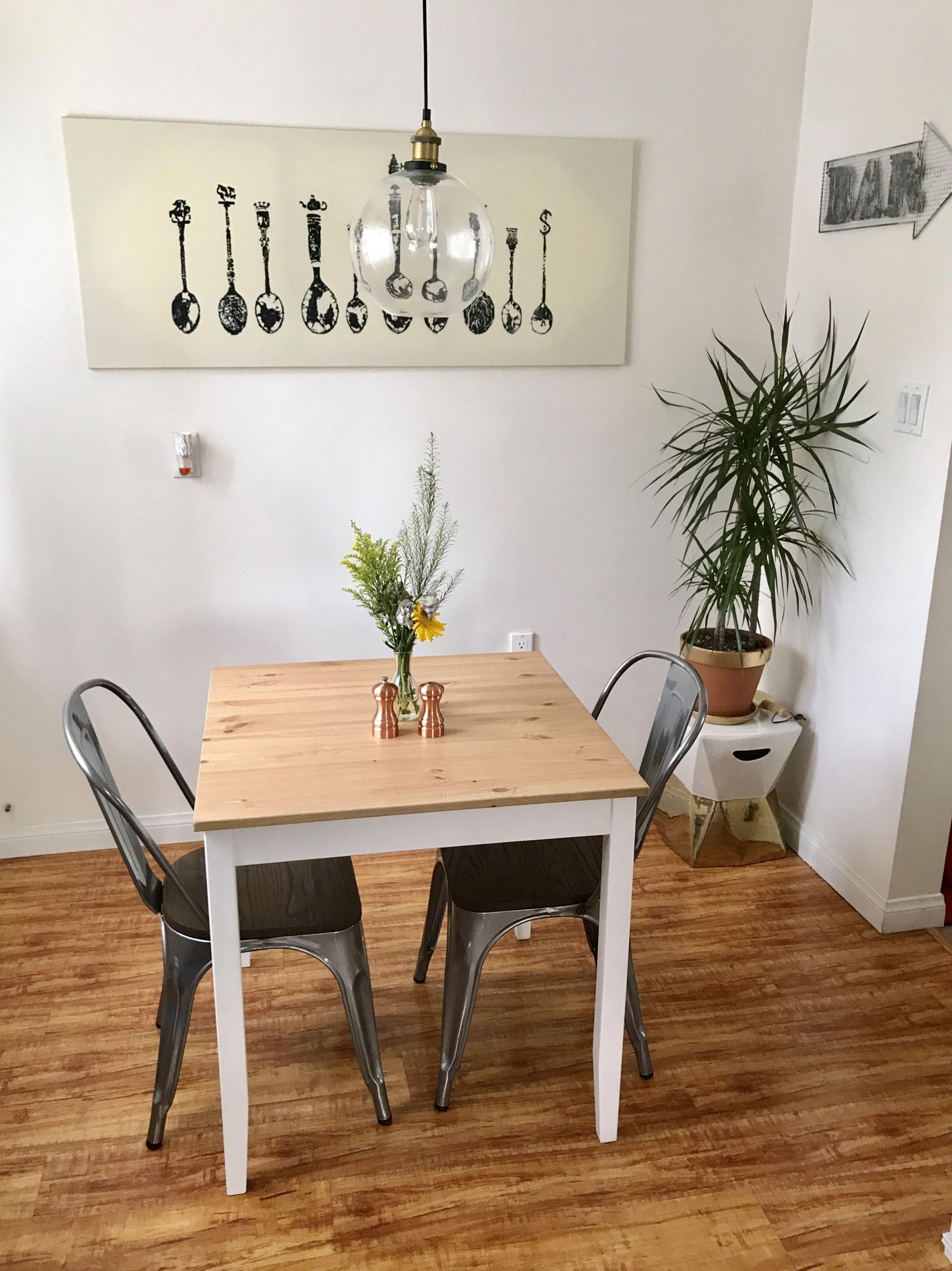 Another Little Redecorating For The Breakfast Nook Klorup Canvas And Lerhamn Table Fr Small Kitchen Design Apartment Kitchen Design Small Home Decor Styles