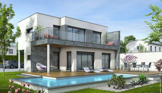 Maison toit plat Azur - plan maison contemporaine | Maison | Pinterest