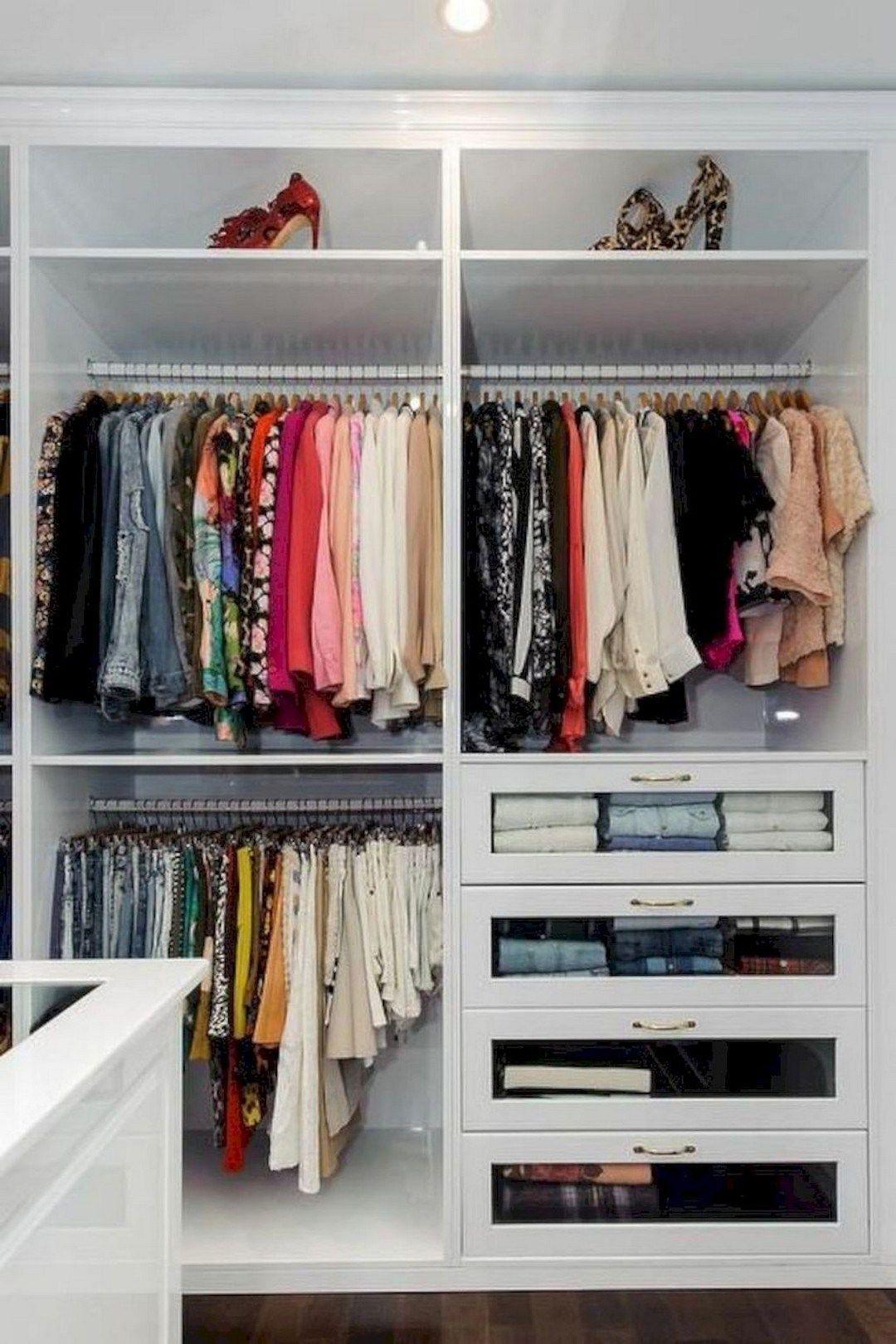 32 Smart Storage Ideas To Improve Closet Organization And Maximize Small Spaces Alladecor Com Small Closet Storage Closet Storage Closet Bedroom