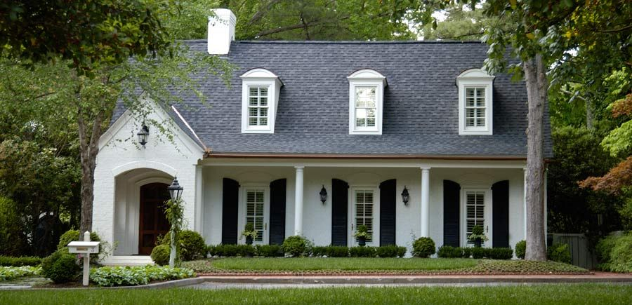 White Brick House With Black Shutters Brick Exterior House Painted White Brick House White Exterior Houses