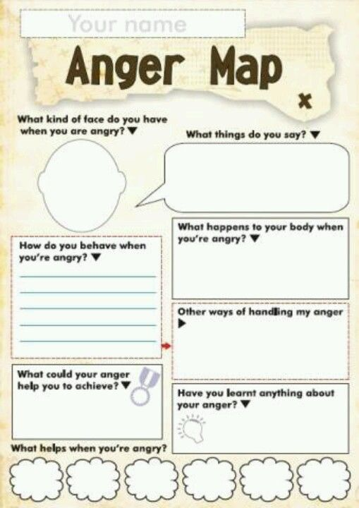Free Anger and Feelings Worksheets for Kids – Free Anger Management Worksheets