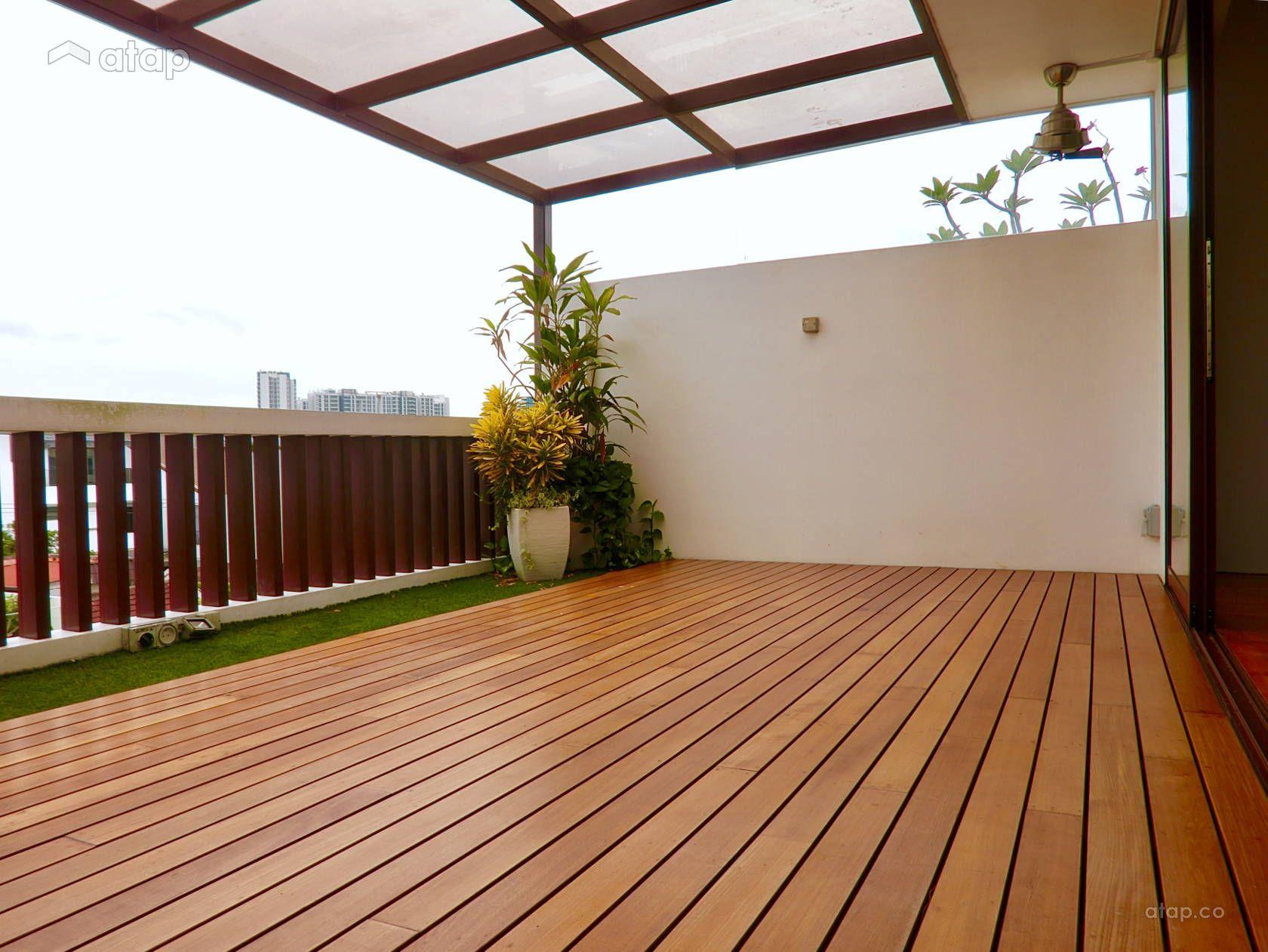 Contemporary Balcony Garden terrace design ideas & photos Malaysia