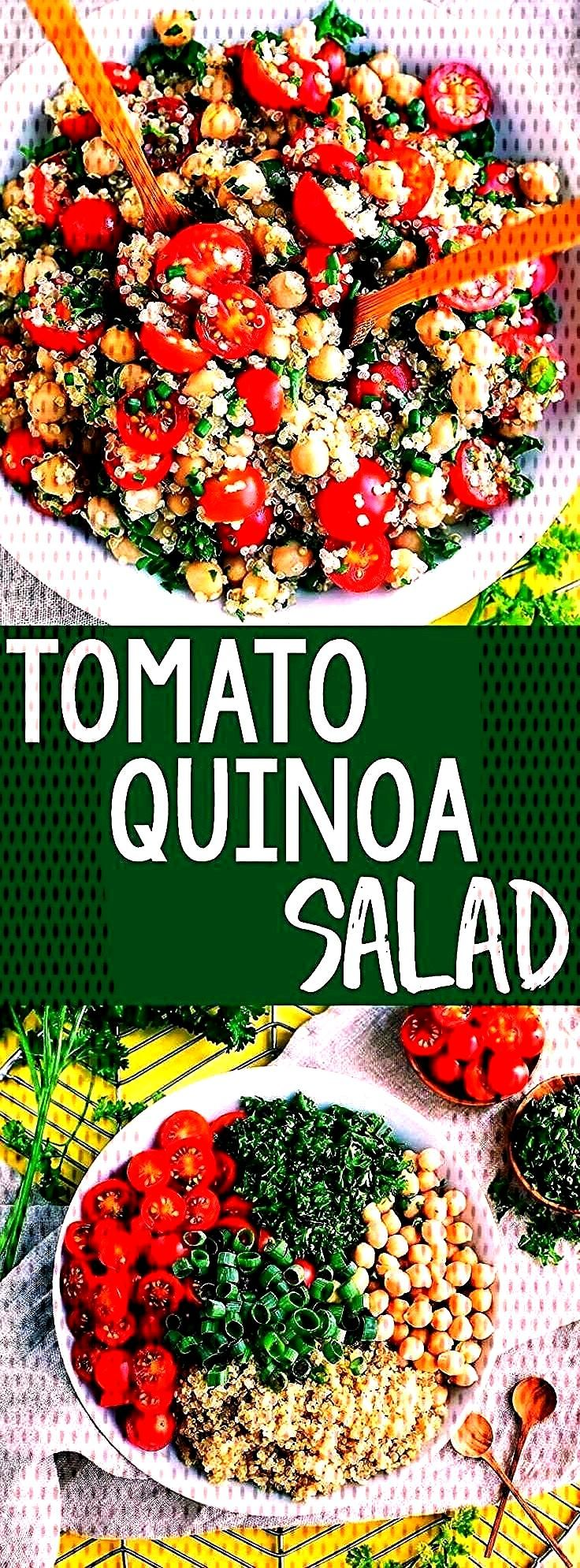 time to add another tasty quinoa recipe to our meal prep game! This Tomato Quinoa Salad is fast, fl