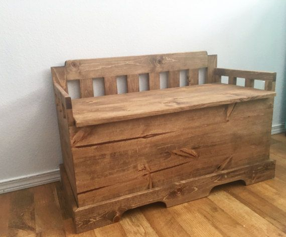 Toy Chest Bench Rustic Toy Chest Bench Wood Toy By Thewyleefox