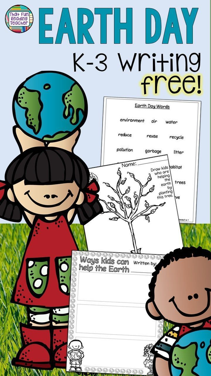 Earth Day Writing Freebie For K 3 Students 3 Part Graphic Organizer That Fun Reading Teacher Primary Students Earth Day Activities Earth Day Worksheets [ 1280 x 720 Pixel ]