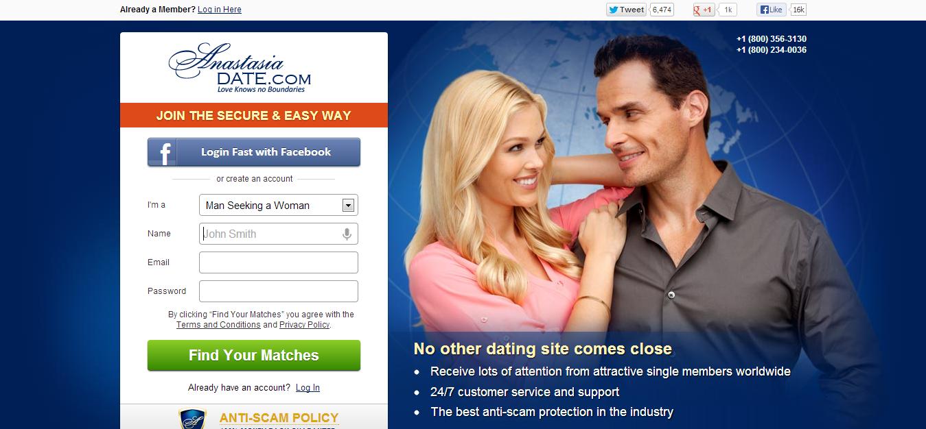 Anastasia dating website