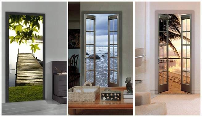 Decorar puertas y armarios con murales fotogr ficos - Vinilos para decorar armarios ...