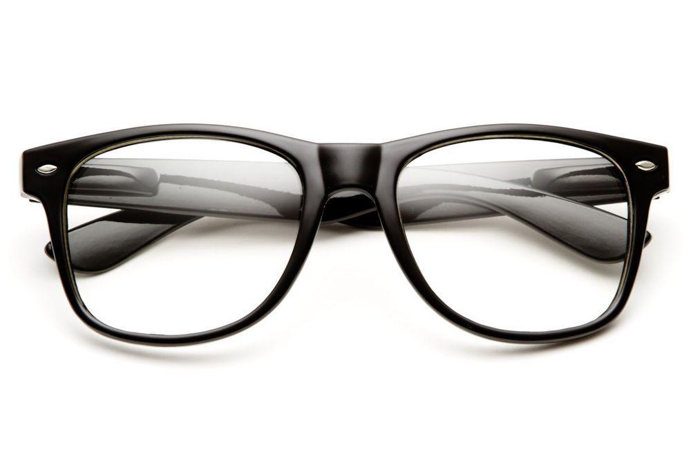 02e149a1ce4 Fashion Cool Unisex Clear Lens Nerd Geek Glasses Eyewear For Men Womens  Vintage