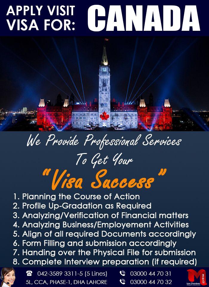 Apply Canada Visit Visa through our Expert...