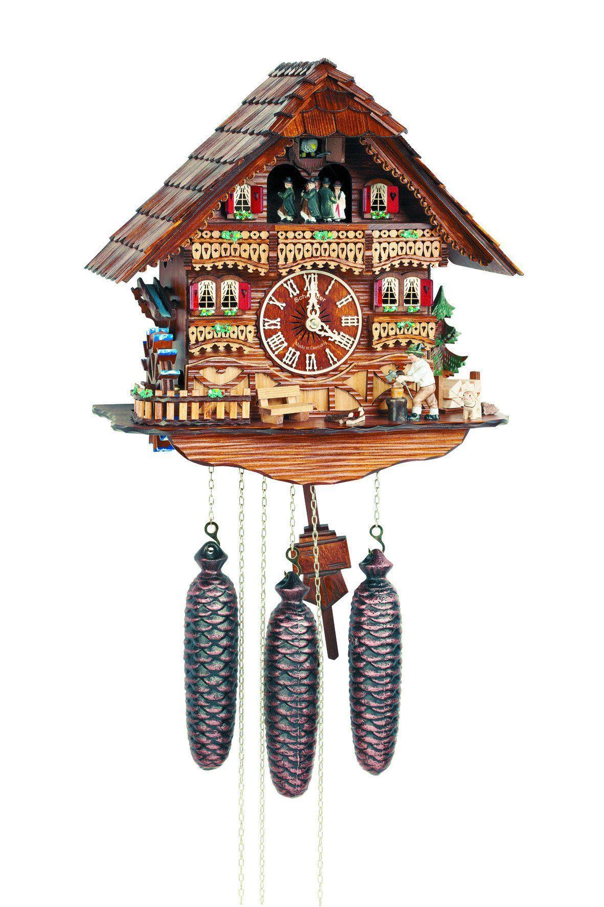 Eight Day Musical Wood Chopper Black Forest German Cuckoo