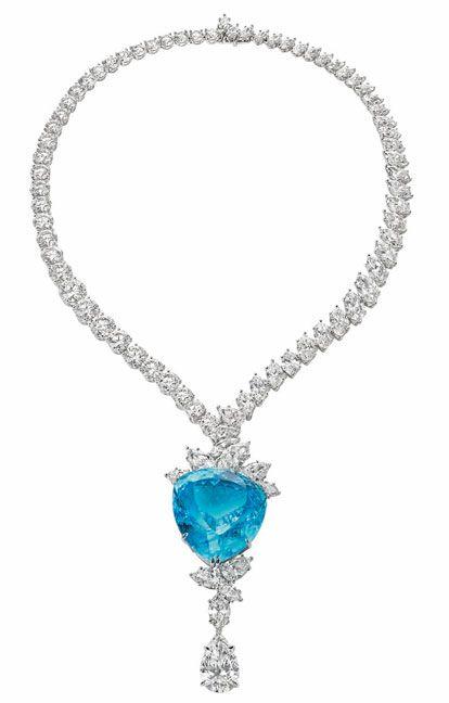 Harry Winston one-of-a-kind Paraiba Tourmaline Diamond