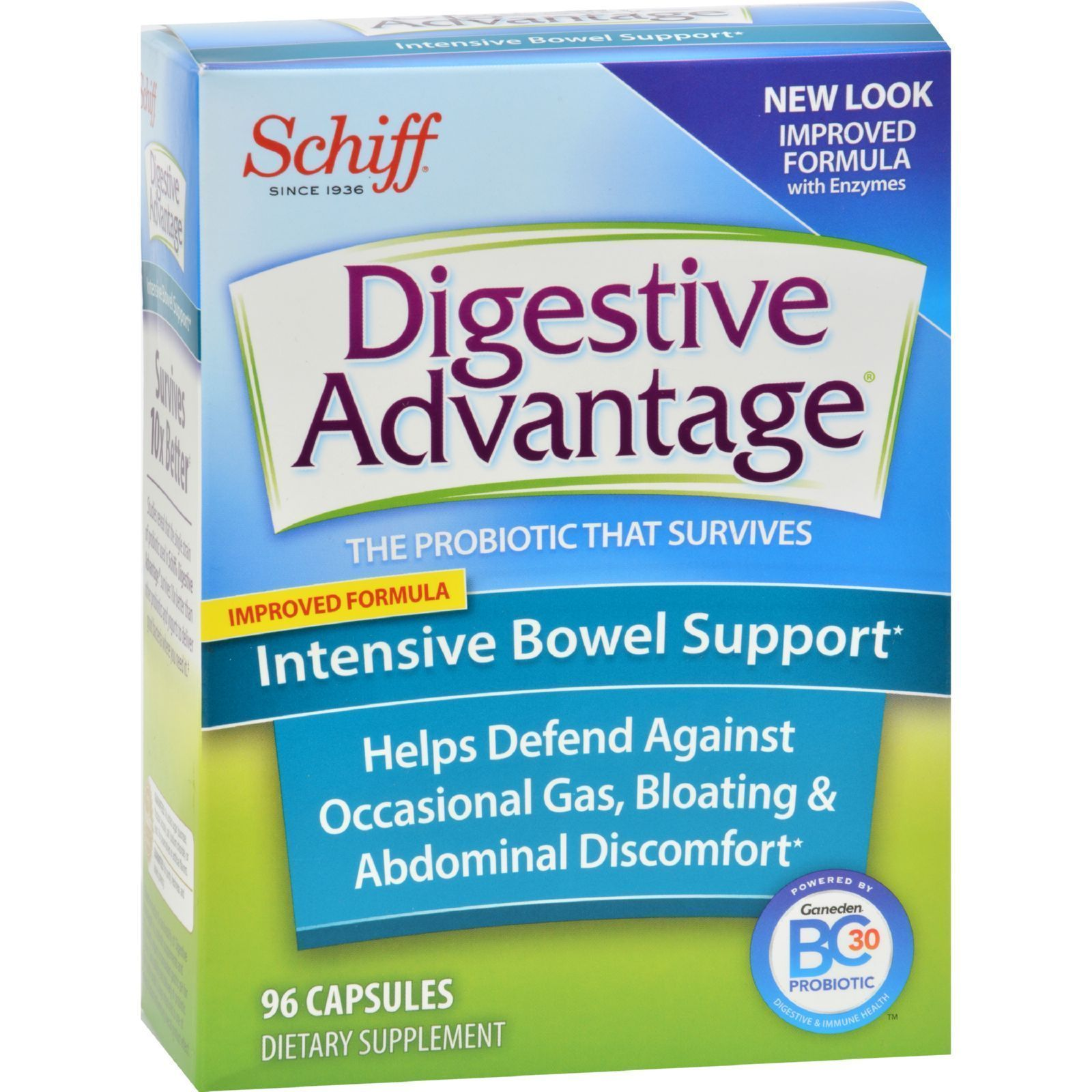 Schiff Vitamins Digestive Advantage - Intensive Bowel Support - 96 Capsules  #health #nutrition #org...