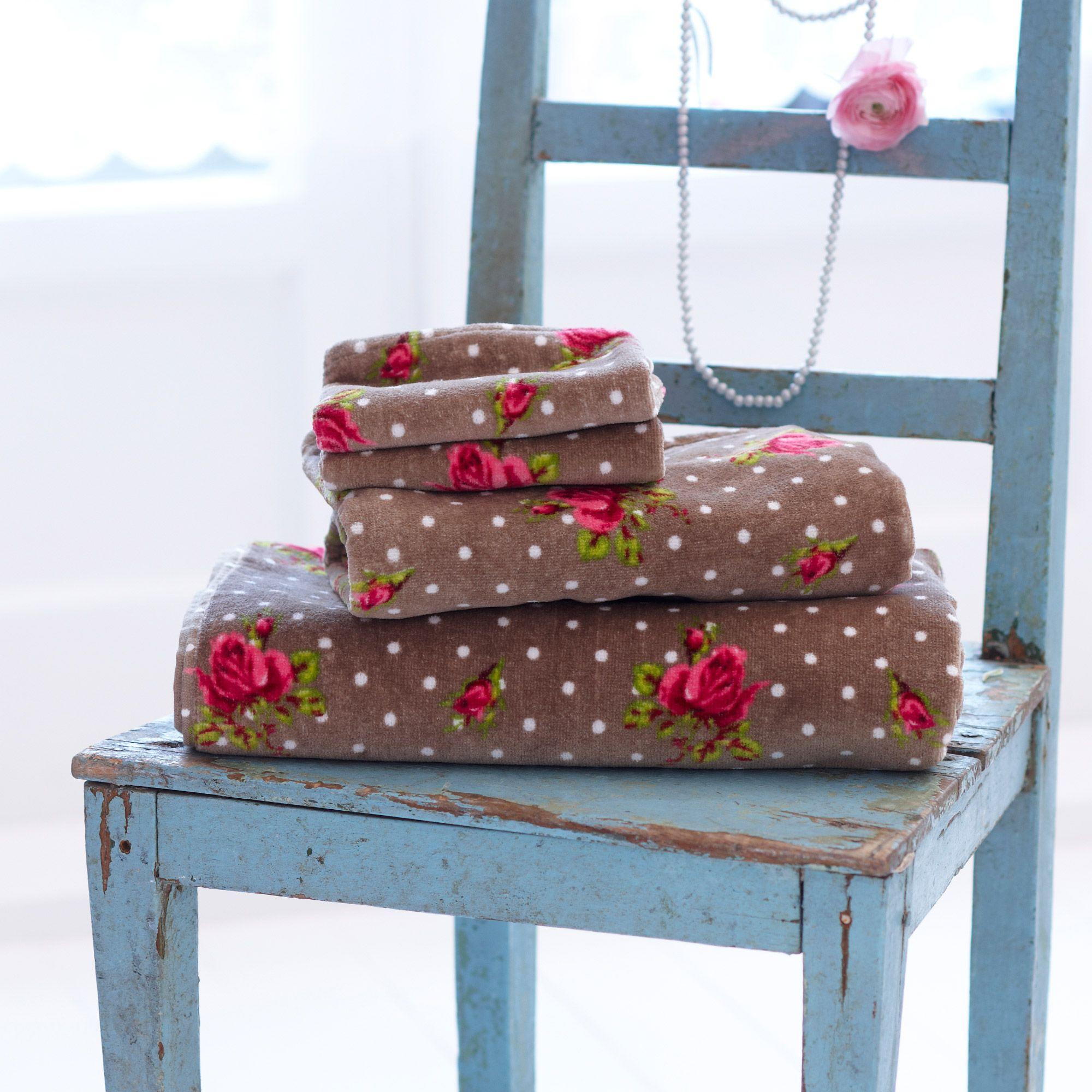serviette de toilette roses and dots pip studio pois. Black Bedroom Furniture Sets. Home Design Ideas