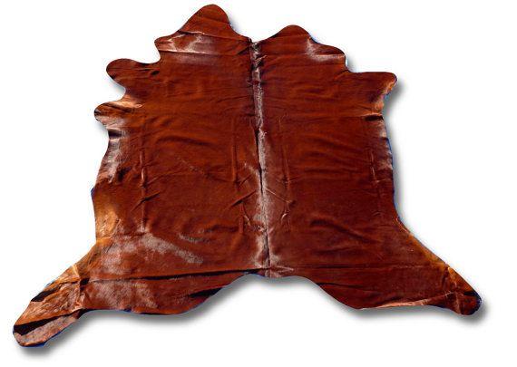 H-859 Natural Solid Brown Cowhide Rug Size: 7.5' X by Cowhidesusa