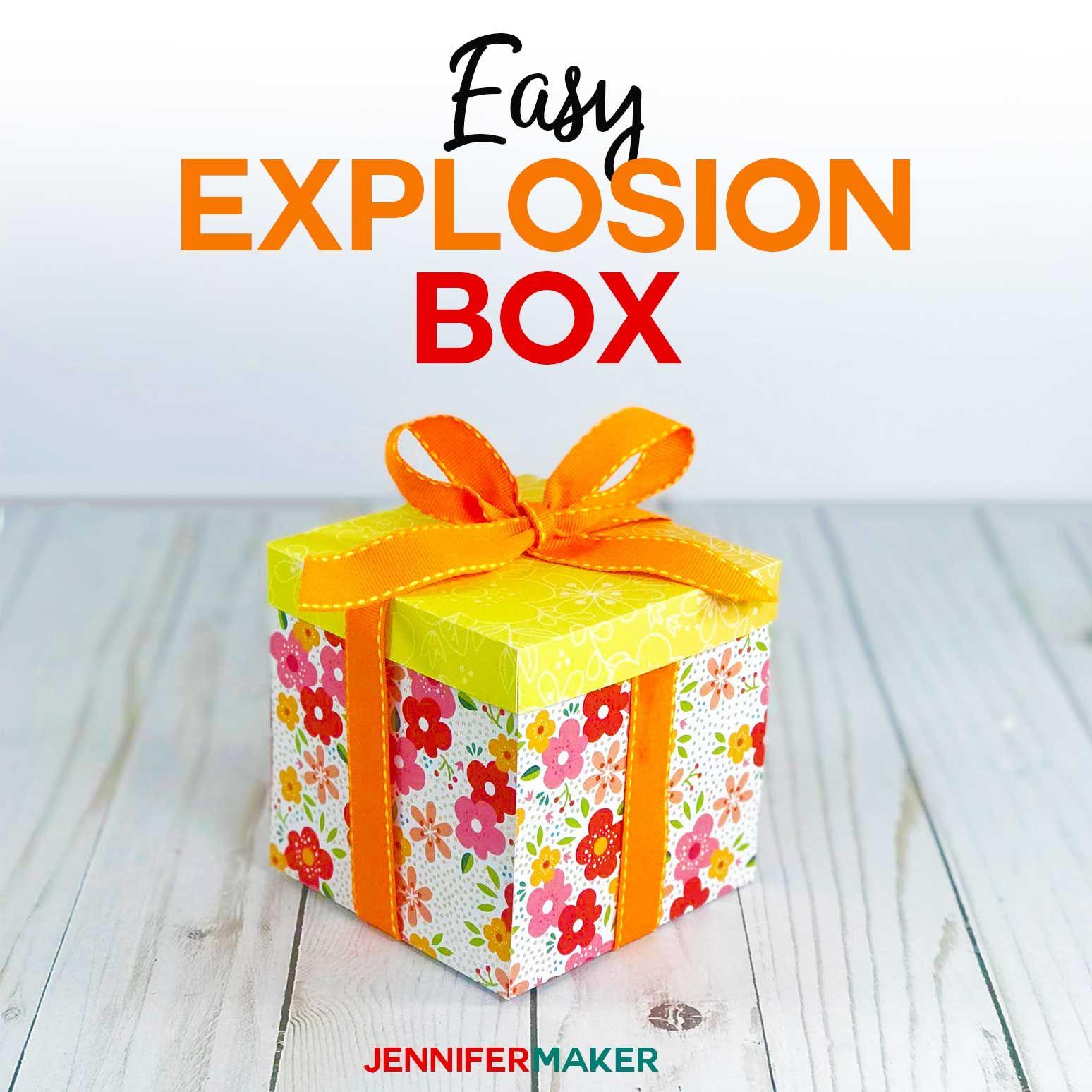 Explosion Box Card Tutorial Endless Box Free SVG File